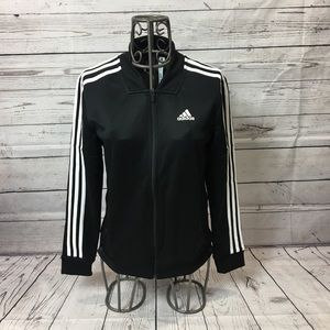 Adidas 3 Stripe Tricot Snap Jacket